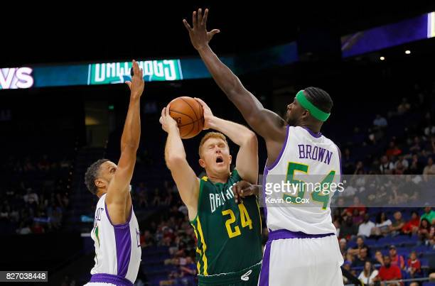 Brian Scalabrine of the Ball Hogs shoots the ball during the game against the 3 Headed Monsters during week seven of the BIG3 three on three...