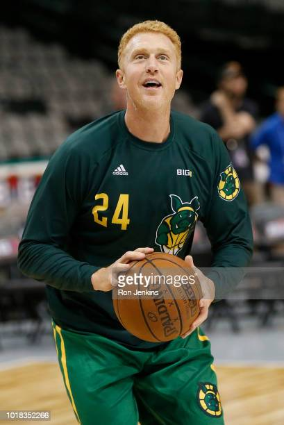 Michael Rapaport records a video for social media during week nine of the BIG3 threeonthree basketball league at the American Airlines Center on...