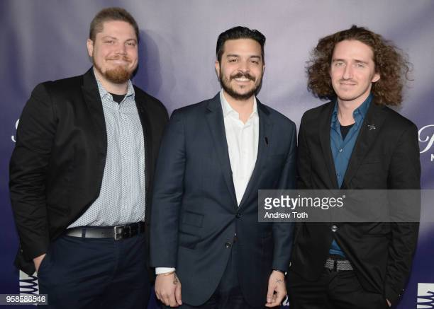 Brian Schildhorn Christian Capestany and Zach Goldstein attend The 22nd Annual Webby Awards at Cipriani Wall Street on May 14 2018 in New York City
