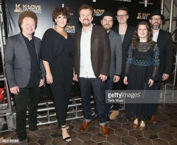 Brian Scoggin Megan Garrett Mark Hall guest Josh Mix Melodee DeVevo and Juan DeVevo of musical group Casting Crowns attend the 6th Annual KLOVE Fan...