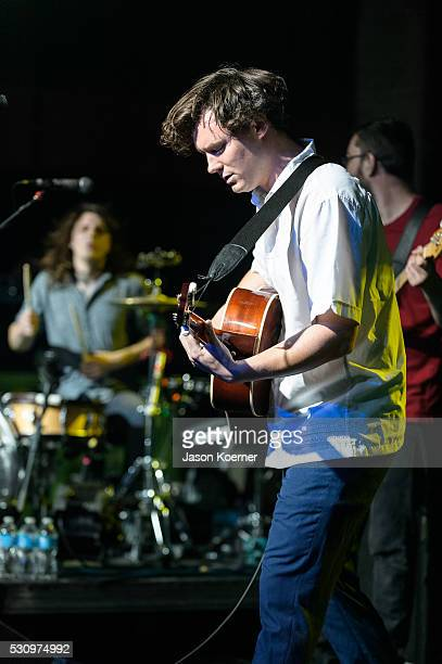 Brian Sella Tom Warren and Mat Uychich of The Front Bottoms perform at Revolution on May 10 2016 in Fort Lauderdale Florida