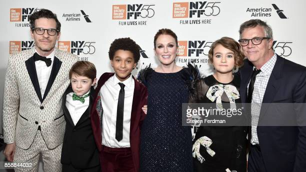 Brian Selznick Oakes Fegley Jaden Michael Julianne Moore Millie Simmonds and Todd Haynes attend the 55th New York Film Festival 'Wonderstruck'...