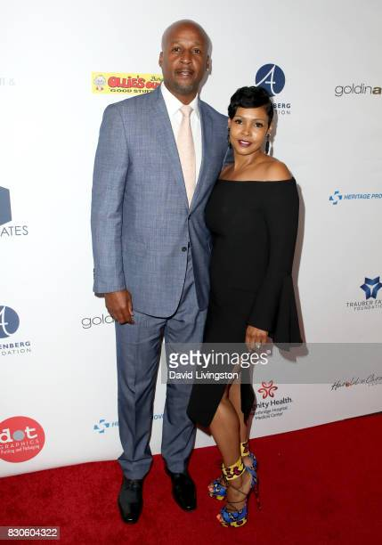 Brian Shaw and Nikki Shaw at the 17th Annual Harold Carole Pump Foundation Gala at The Beverly Hilton Hotel on August 11 2017 in Beverly Hills...