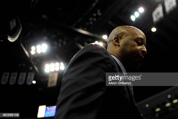 Brian Shaw of the Denver Nuggets walks off the court after the second quarter of action against the Charlotte Hornets The Denver Nuggets hosted the...
