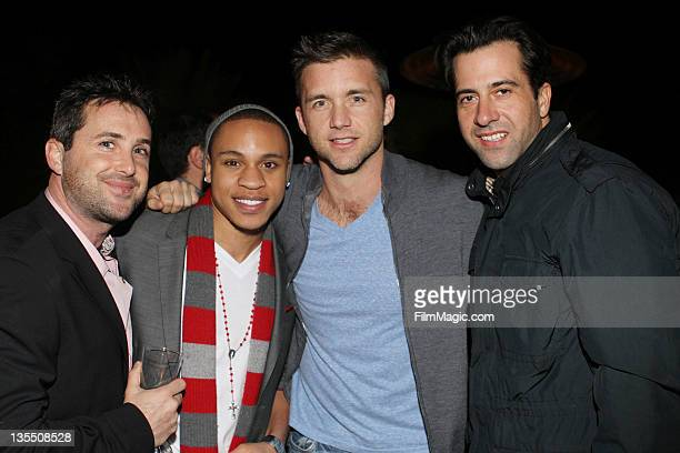Brian Sher Rotimi Akinosho Jeff Hephner and Troy Garity attend the Stella Bulochnikov And Brian Sher's Annual Holiday Party on December 10 2011 in...