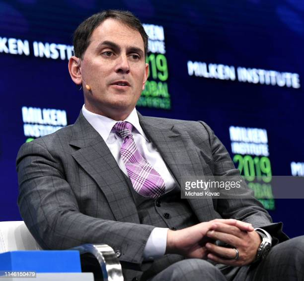 Brian Sheth participates in a panel discussion during the annual Milken Institute Global Conference at The Beverly Hilton Hotel on April 29 2019 in...