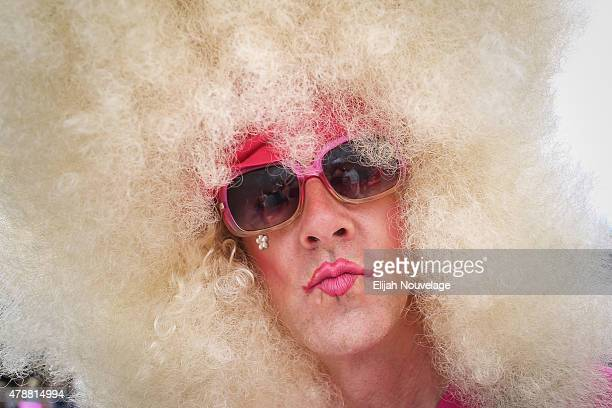 Brian Shook poses for a portrait during a gay pride celebration at Dolores Park on June 27 2015 in San Francisco California The Supreme Court ruled...