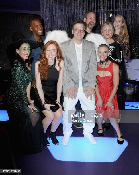 """Brian Sikoff poses with the cast of """"Resident Evil: Village"""" at the 7th Annual Halloween Hotness: """"Stronger Together"""" To Benefit The St. Jude..."""