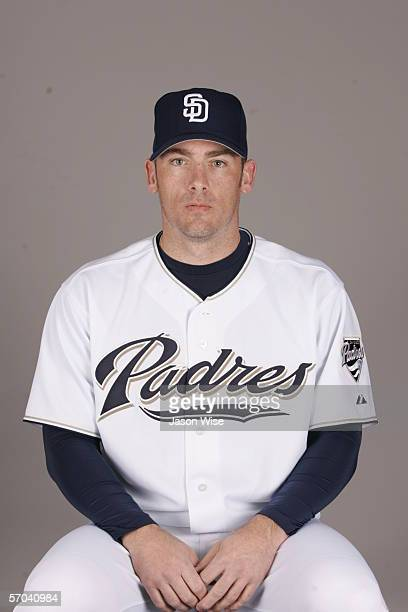 Brian Sikorski of the San Diego Padres during photo day at Peoria Stadium on February 26 2006 in Peoria Arizona