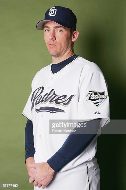 Brian Sikorski poses for a portrait during the San Diego Padres Photo Day at Peoria Stadium on February 26 2006 in Peoria Arizona