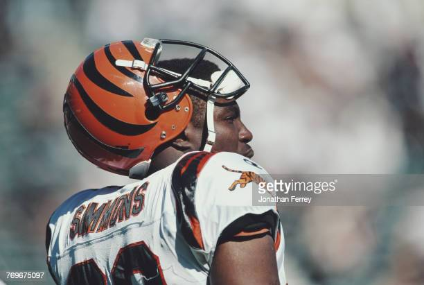 Brian Simmons Linebacker for the Cincinnati Bengals during the American Football Conference West game against the Oakland Raiders on 15 October 1998...