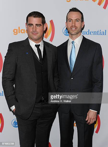 Brian Sims and Cyd Zeigler attend the 21st Annual GLAAD Media Awards at The New York Marriott Marquis on March 13 2010 in New York City