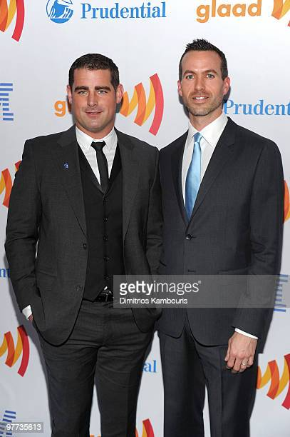 Brian Sims and Cyd Zeigler attend the 21st Annual GLAAD Media Awards at The New York Marriott Marquis on March 13 2010 in New York New York