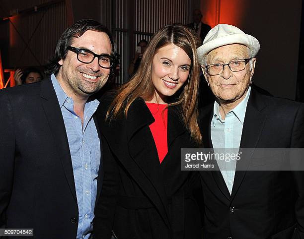 Brian Sirgutz actress Maggie Grace and writer Norman Lear attend william's iamangel Foundation TRANS4M 2016 Gala at Milk Studios on February 11 2016...