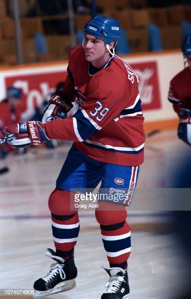 Brian Skrudland of the Montreal Canadiens skates against the Toronto Maple Leafs during NHL game action on January 27 1990 at Maple Leaf Gardens in...
