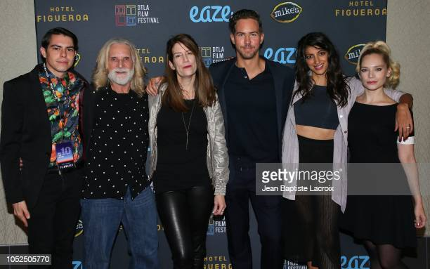 Brian Smith, Jro, Ilana Rein, Wes Ramsey, Meera Rohit Kumbhani and Caitlin Mehner attend the 2018 Downtown Los Angeles Film Festival - 'All Creatures...