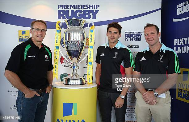 Brian Smith the London Irish Director of Rugby Ollie Lindsay Hague of Harlequins and Howard Graham the Harlequins Academy Head coach during the...