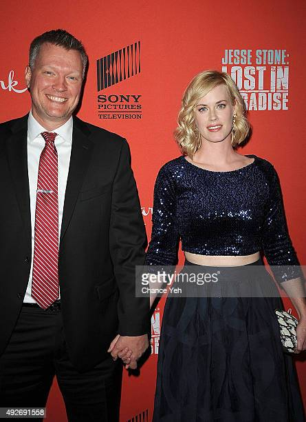 Brian Spies and Abigail Hawk attend Jesse Stone Lost In Paradise New York premiere at Roxy Hotel on October 14 2015 in New York City