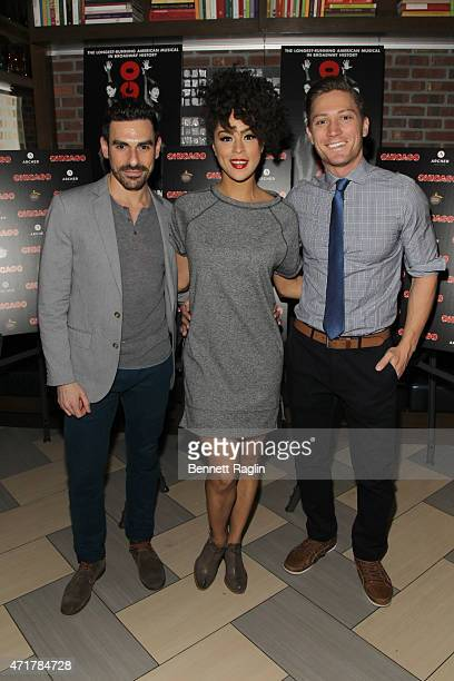 Brian Spitulnik Kelcy Ann Griffin and Adam Jepsen attend Chicago On Broadway After Party at David Burke fabrick on April 30 2015 in New York City