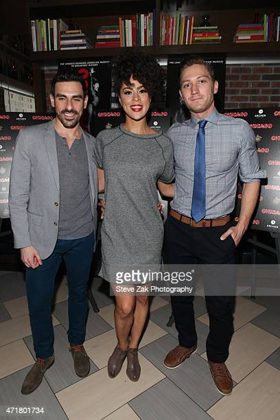 Brian Spitulnik Kelcy Ann Griffin and Adam Jepsen attend the debut performance of Brandy Norwood in Broadway's 'Chicago' after party at David Burke...