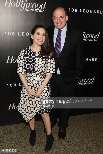 Brian Stelter and Jamie Shupak attend the 2018 The Hollywood Reporter's 35 Most Powerful People In Media at The Pool on April 12 2018 in New York City