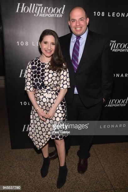 Brian Stelter and Jamie Shupak attend The Hollywood Reporter's Most Powerful People In Media 2018 at The Pool on April 12 2018 in New York City