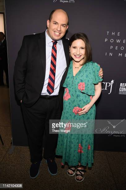 Brian Stelter and Jamie Shupak Stelter attend The Hollywood Reporter's 9th Annual Most Powerful People In Mediaat The Pool on April 11 2019 in New...
