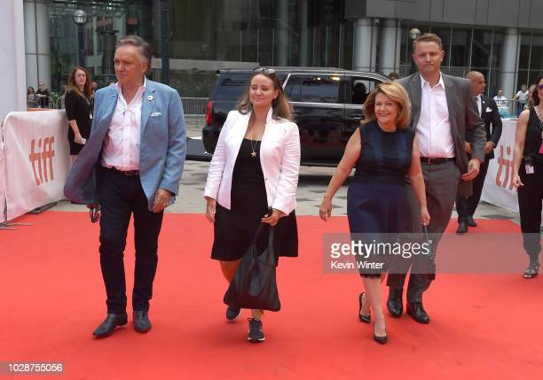 Brian Stewart Alexandra Stewart Sandy Stewart and Roger Rueisuli attend the 'Sharkwater Extinction' premiere during 2018 Toronto International Film...