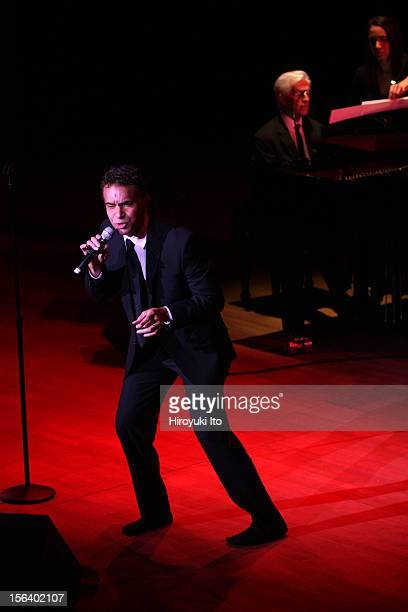 Brian Stokes Mitchell accompanied by Marvin Laird on piano performing in Simply Broadway at Alice Tully Hall on Wednesday night November 7 2012