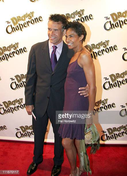 Brian Stokes Mitchell and Alison Tucker during Opening Night of 'The Drowsy Chaperone' at Marquis Theatre in New York City New York United States