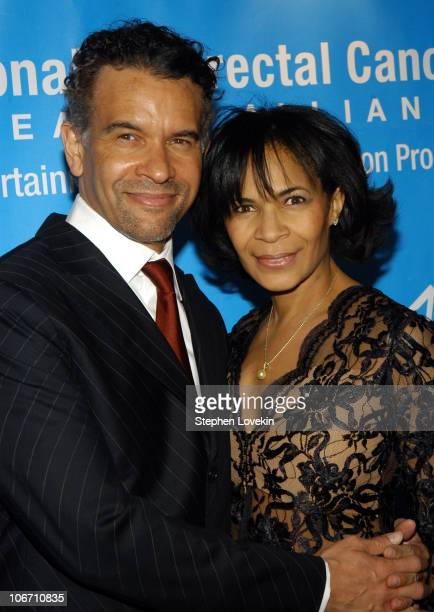 Brian Stokes Mitchell and Allyson Tucker at the Entertainment Industry Foundation's colon cancer benefit on the Queen Mary 2