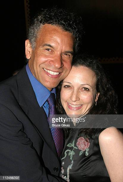 Brian Stokes Mitchell and Bebe Neuwirth during The Pillowman Actors Fund Benefit Performance at The Booth Theater in New York City New York United...
