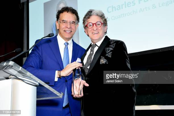 Brian Stokes Mitchell and Charles Pavarini III attend 2019 Bailey House Gala Auction at Pier 60 Chelsea Piers on March 07 2019 in New York City