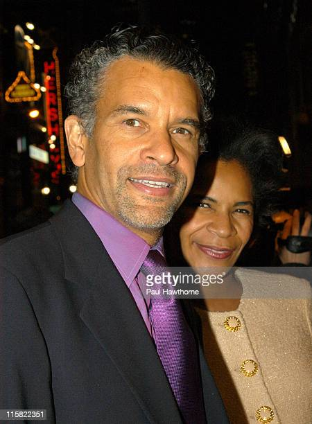 Brian Stokes Mitchell and wife Allyson Tucker during Ellen Burstyn in the One Woman Show Oldest Living Confederate Widow Tells All Arrivals and After...