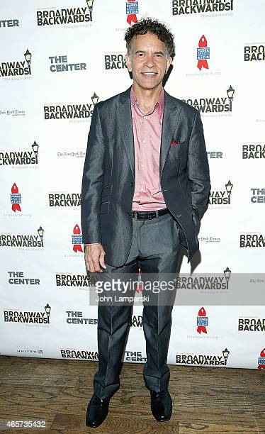 Brian Stokes Mitchell attends 10th Anniversary of Broadway Backwards at John's on March 9 2015 in New York City