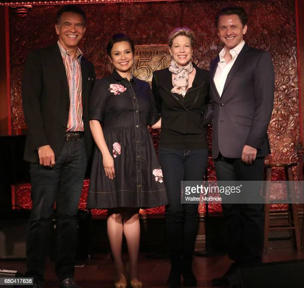 Brian Stokes Mitchell Lea Salonga Marin Mazzie and Jason Danieley attend the at Feinsteins/54 Below on May 8 2017 in New York City