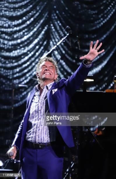 Brian Stokes Mitchell performs at the Miami Fusion Concert at Ziff Ballet Opera House on April 6 2019 in Miami Florida