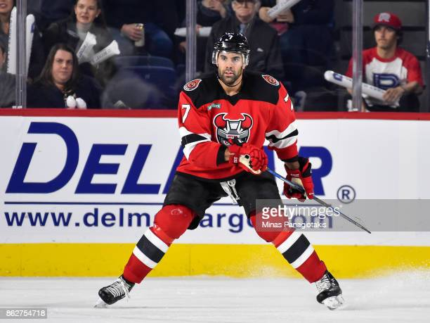 Brian Strait of the Binghamton Devils skates against the Laval Rocket during the AHL game at Place Bell on October 13 2017 in Laval Quebec Canada The...