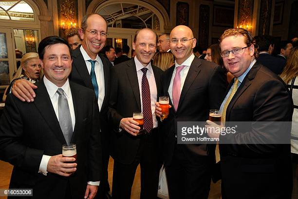 Brian Sullivan John Pete Swiecicki Rob and Brian Crimmins attend An Evening Honoring Joe Namath at The Plaza Hotel on October 20 2016 in New York City