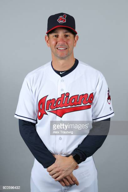 Brian Sweeney of the Cleveland Indians poses during Photo Day on Wednesday February 21 2018 at Goodyear Ballpark in Goodyear Arizona