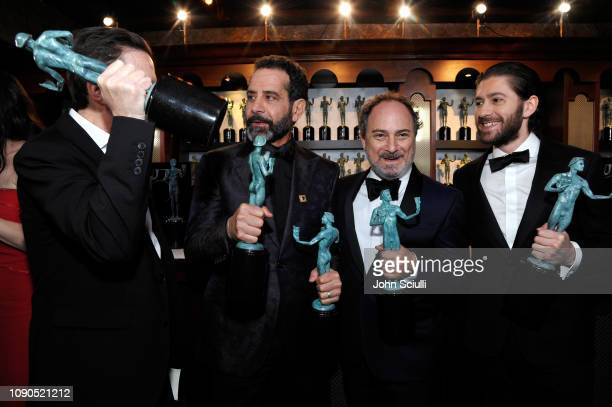 Brian Tarantina Tony Shalhoub Kevin Pollak and Michael Zegen attend the 25th Annual Screen Actors Guild Awards at The Shrine Auditorium on January 27...