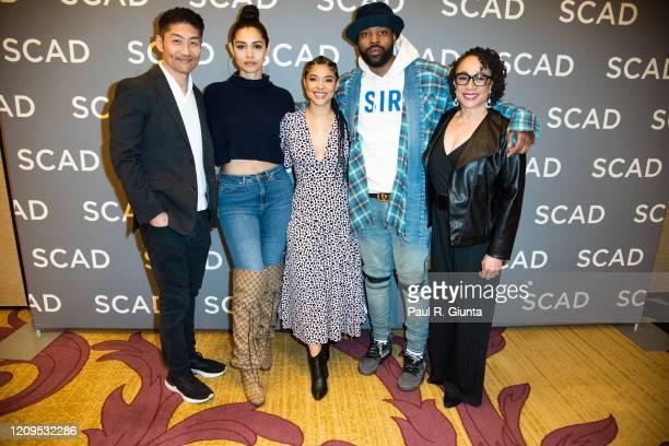 Brian Tee Miranda Rae Mayo Lisseth Chavez LaRoyce Hawkins and S Epatha Merkerson attend SCAD aTVfest 2020 The Windy City Trifecta Dick Wolf's...