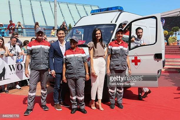 Brian Tee Torre DeVitto and Colin Donnell attend Chicago Med Photocall as part of the 56th Monte Carlo Tv Festival at the Grimaldi Forum on June 14...