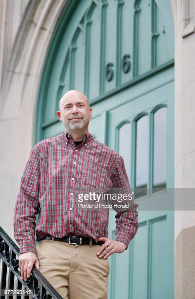 Brian Townsend executive director at Amistad poses Thursday April 20 2017 in Portland Maine