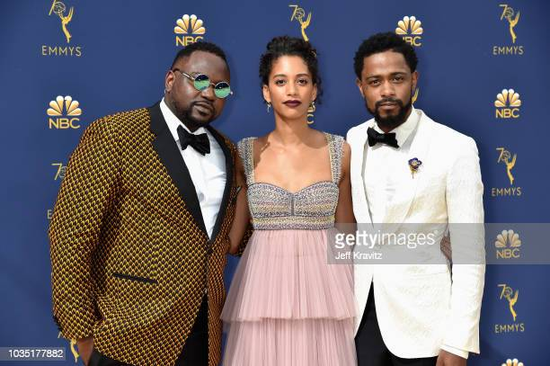 Brian Tyree Henry Stefani Robinson and Lakeith Stanfield attend the 70th Emmy Awards at Microsoft Theater on September 17 2018 in Los Angeles...