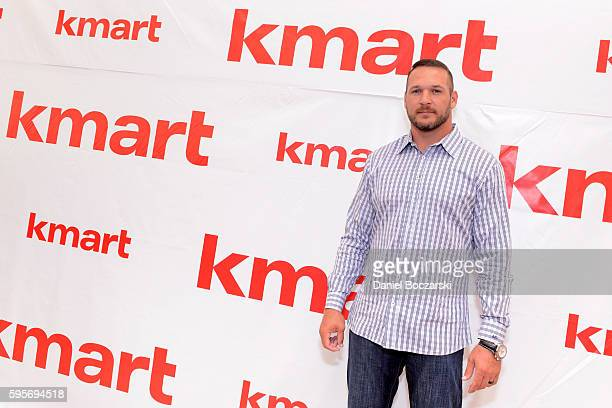 Brian Urlacher attends Kmart Celebrates 'A Whole Lotta Awesome' at VIP Member Event at Kmart on August 25 2016 in Des Plaines Illinois