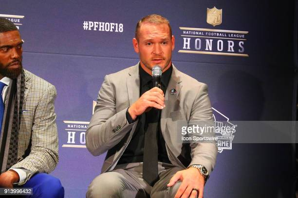 Brian Urlacher selected to the Pro Football Hall of Fame at NFL Honors during Super Bowl LII week on February 3 at Northrop at the University of...