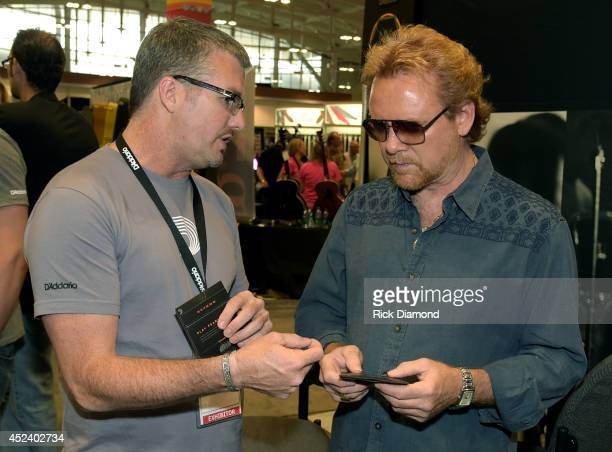 Brian Vance D'Addario Co chats with Singer/Songwriter Lee Roy Parnell during Music Industry Day At Summer NAMM With Performances By Singer/Songwriter...