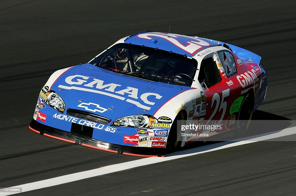 Brian Vickers drives the GMAC Chevrolet, during practice for
