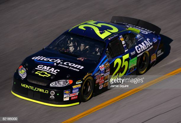 Brian Vickers drives the Hendrick Motorsport GMAC Chevrolet during practice for the Budweiser Shootout at the NASCAR Nextel Cup Daytona 500 on...